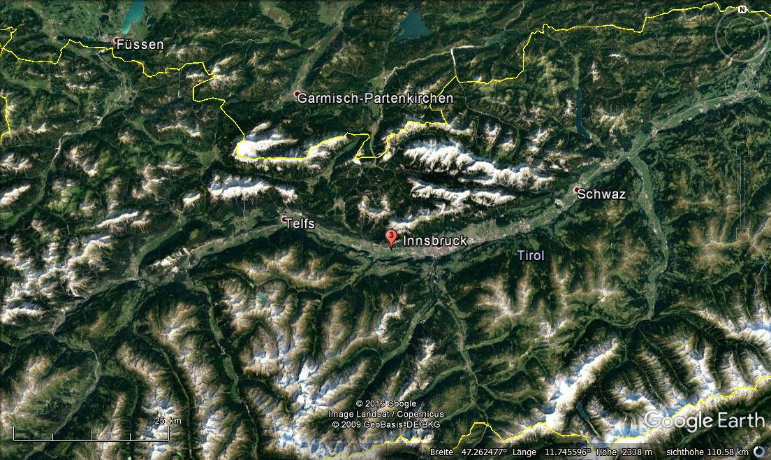Erdbeben Innsbruck