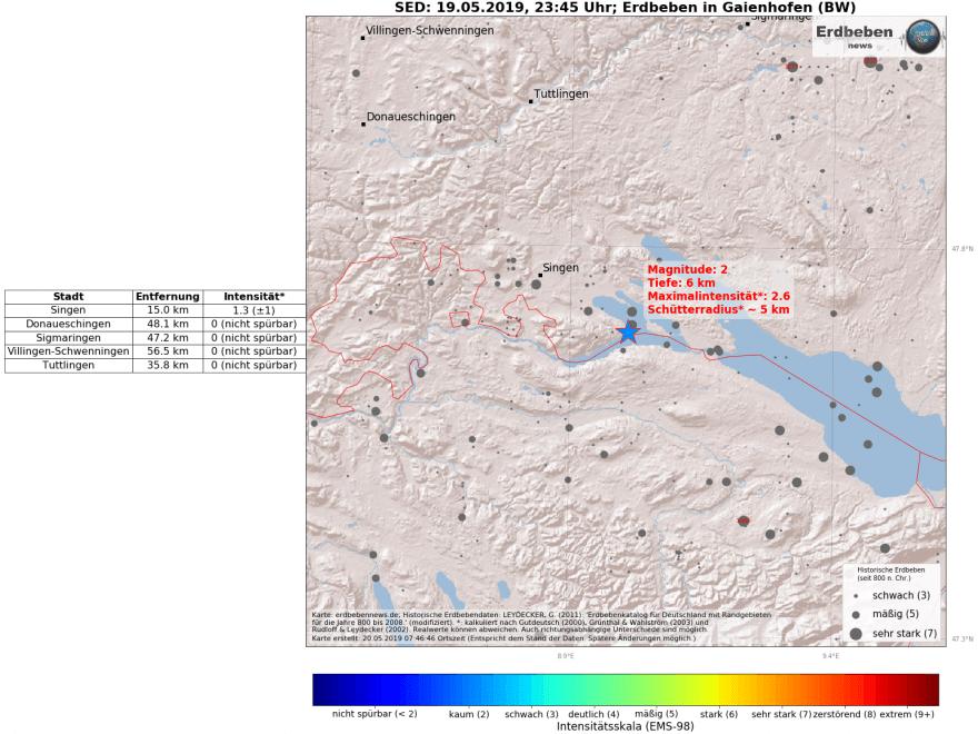 Konstanz Erdbeben