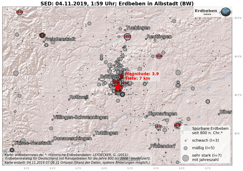Moderates Erdbeben Auf Der Schwabischen Alb Erdbebennews