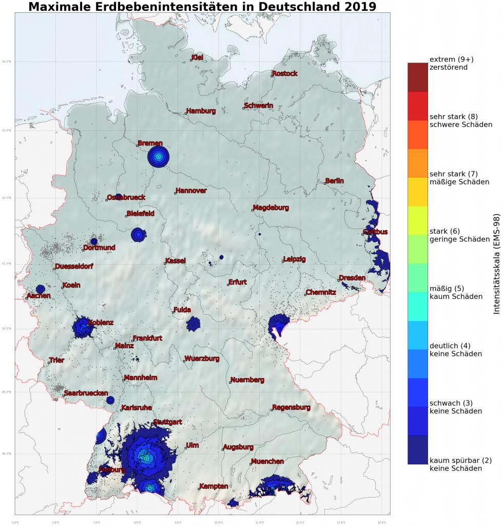 Jahresrückblick: Die Erdbeben in Deutschland 2019 ...