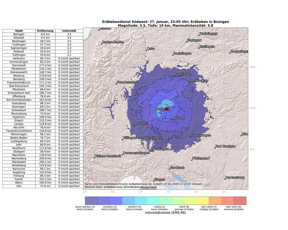 Erdbebenserie In Albstadt Erdbebennews