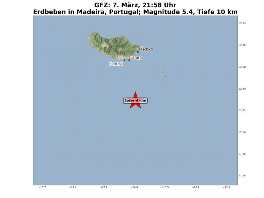 Erdbeben Madeira