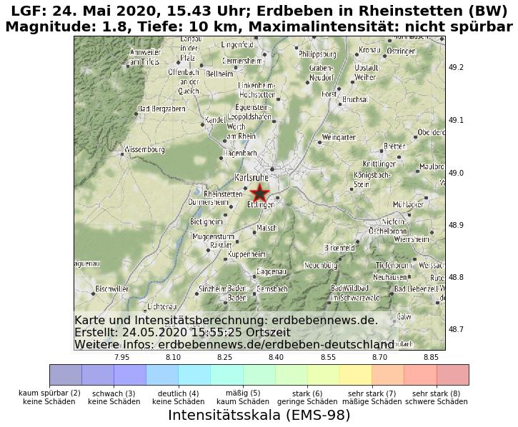 Erdbeben Karlsruhe