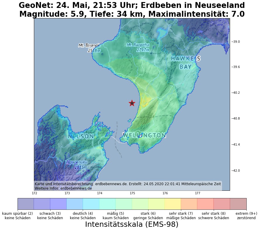 Starkes Erdbeben Erschuttert Neuseeland Erdbebennews