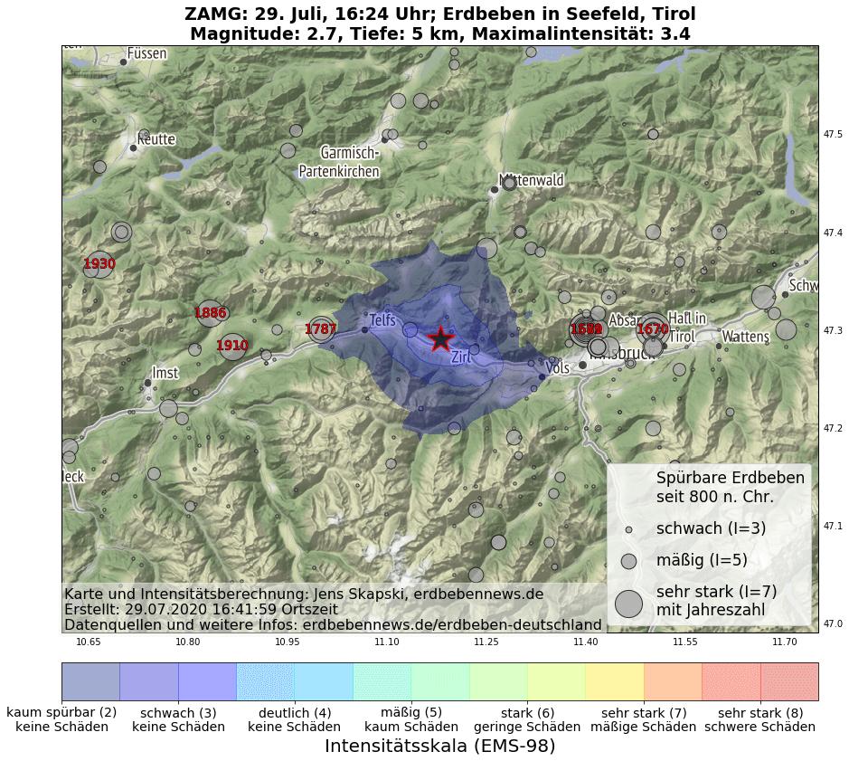 Erdbeben in Seefeld
