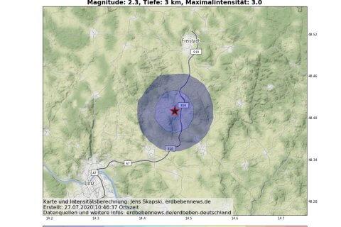 Erdbeben in Oberösterreich