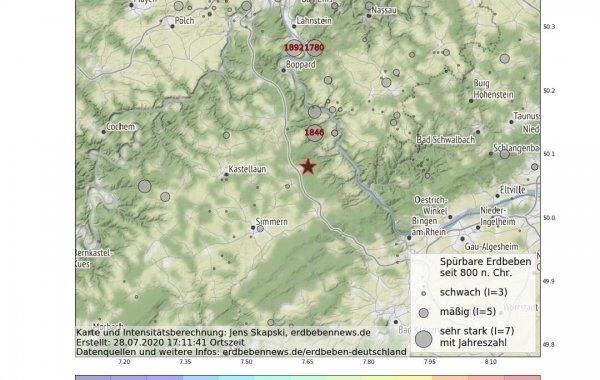 Erdbeben im Hunsrück
