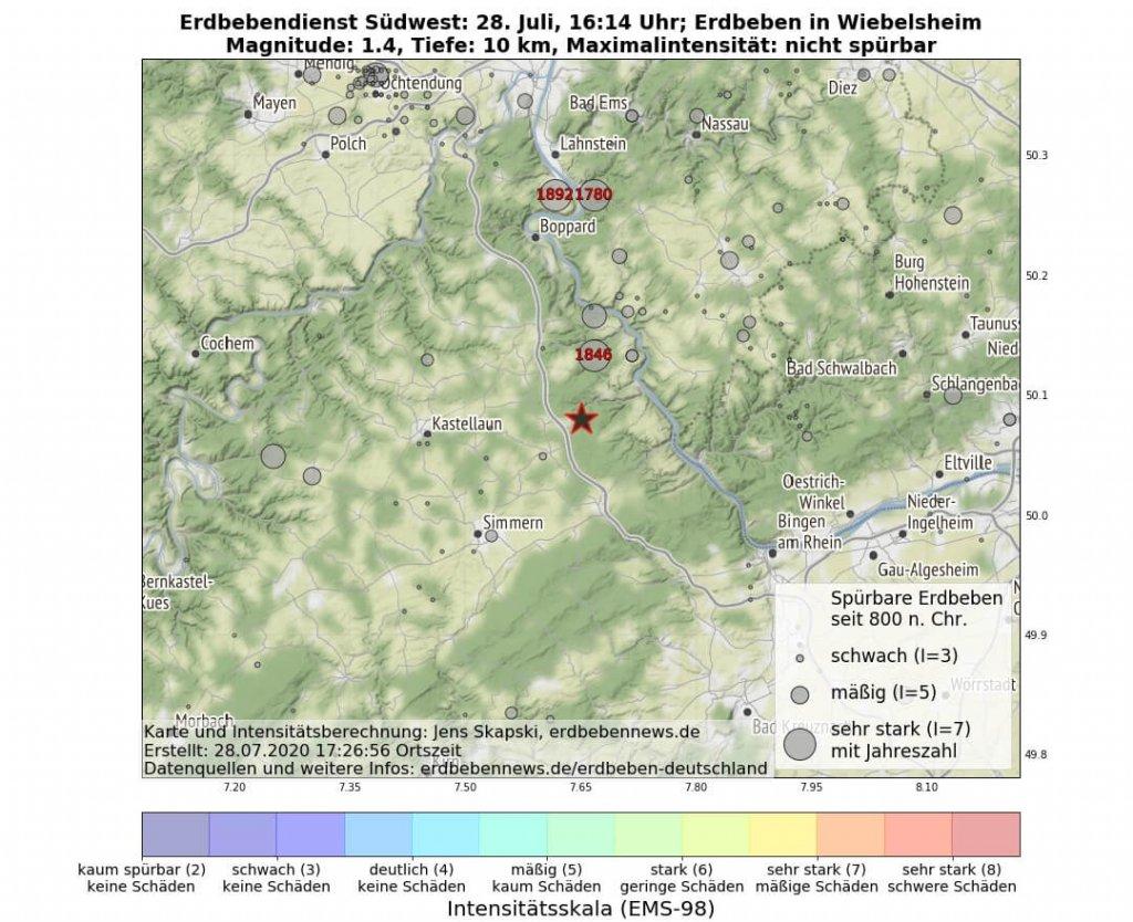 Erdbebenserie im Hunsrück