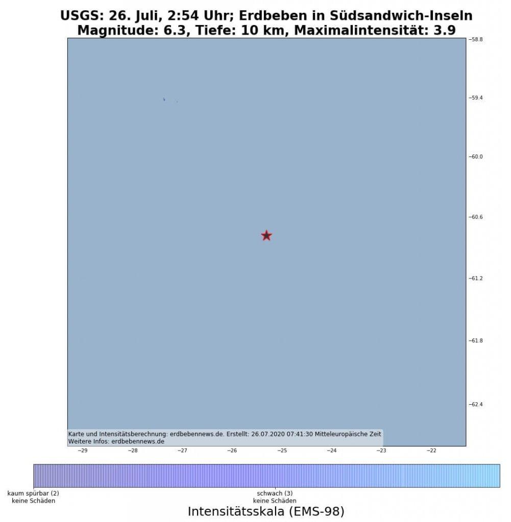 Erdbeben Südsandwich-Inseln 26.Juli