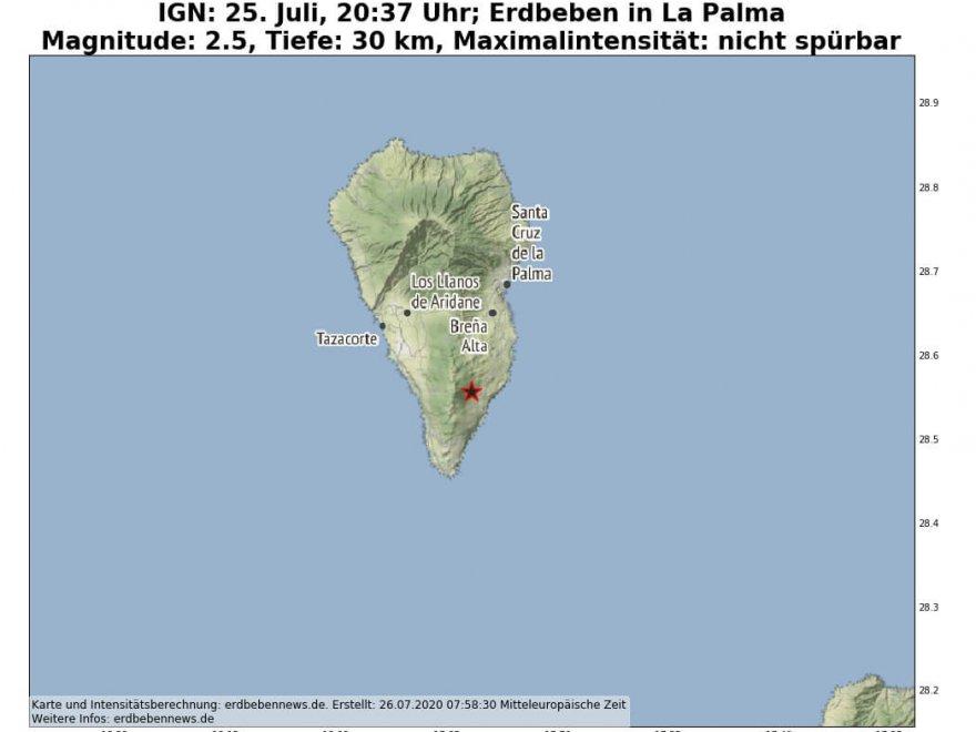 Erdbebenschwarm La Palma