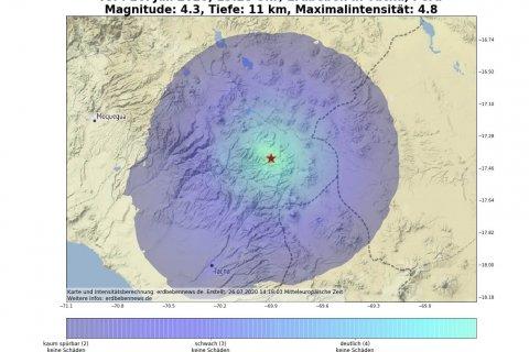 Größtes Beben vom Erdbebenschwarm in Tacna