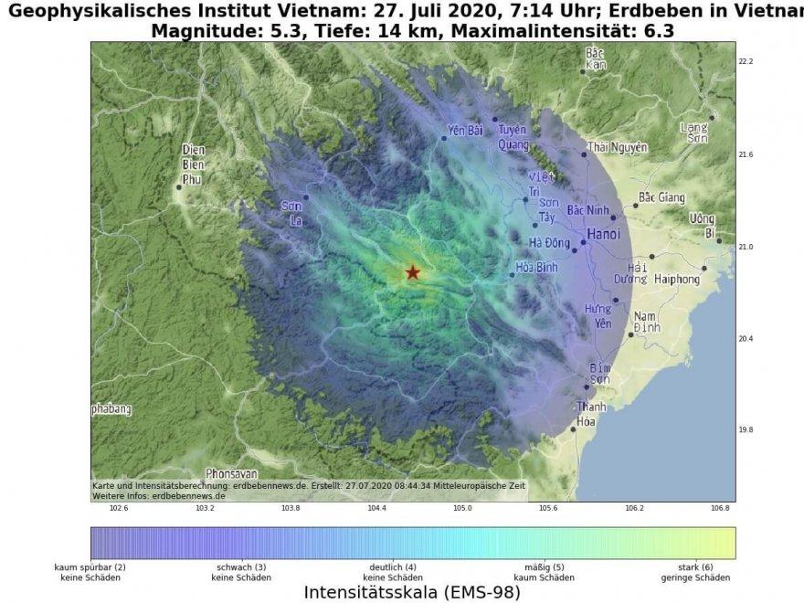 Erdbeben Vietnam