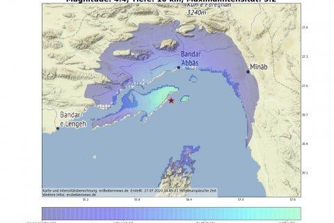 Erdbeben Qeschm