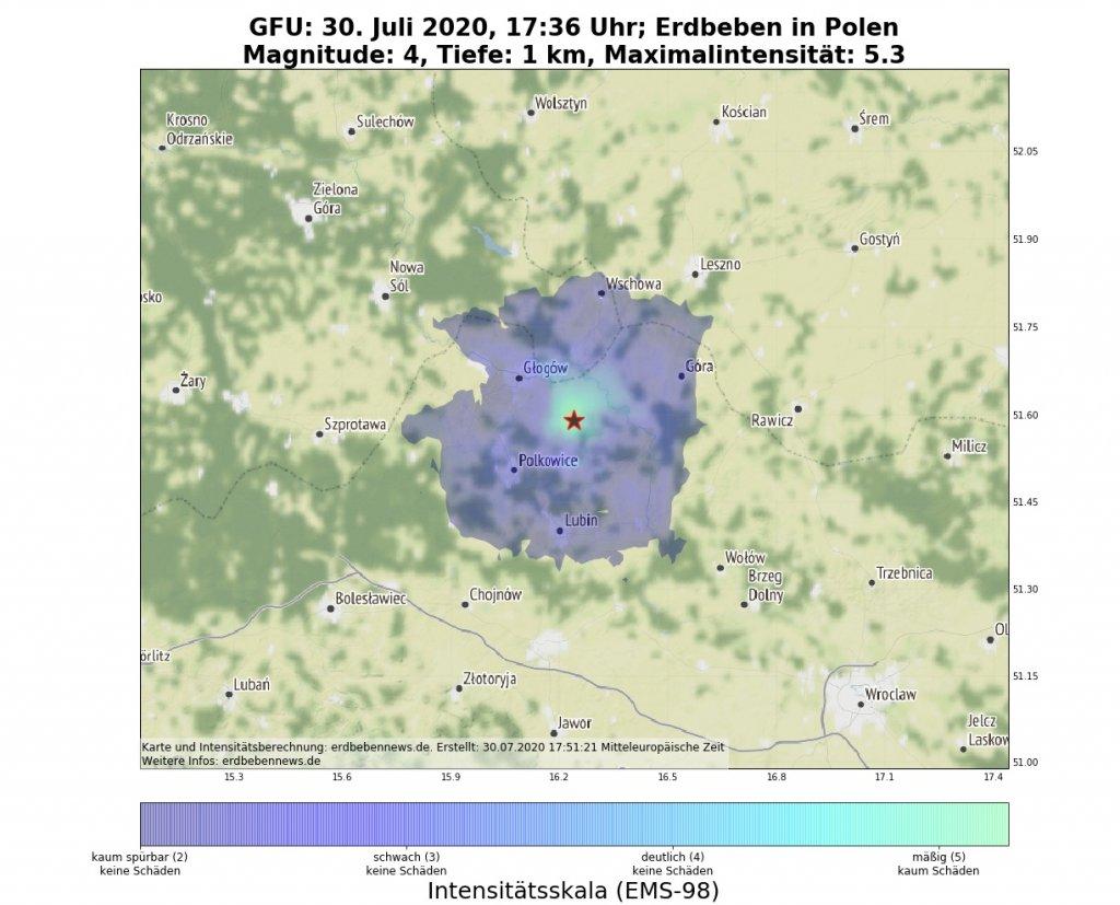Erdbeben Polen