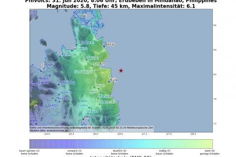 Erdbeben Mindanao