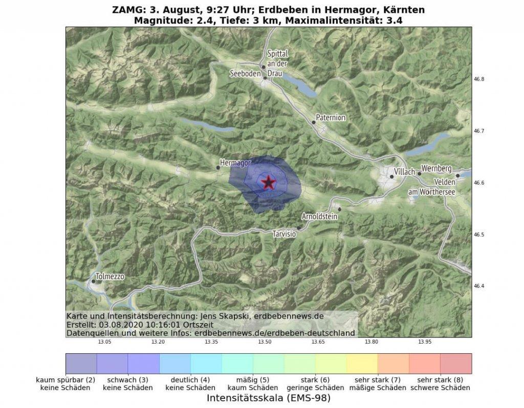 Erdbeben Hermagor