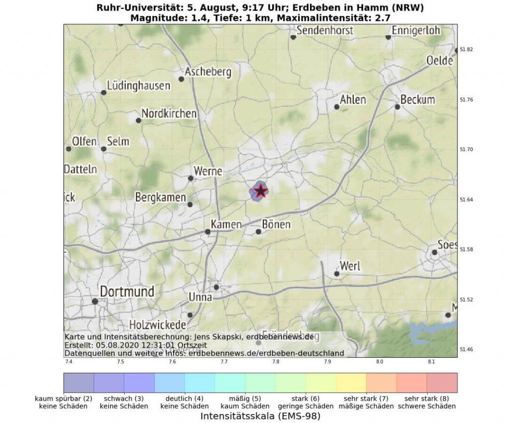 Erdbeben in Hamm