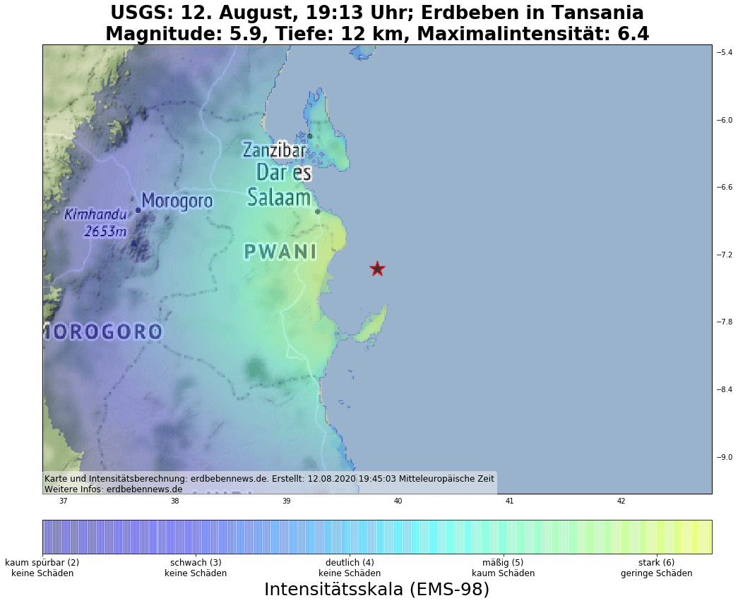 Ein starkes Erdbeben hat Tansania erschüttert.