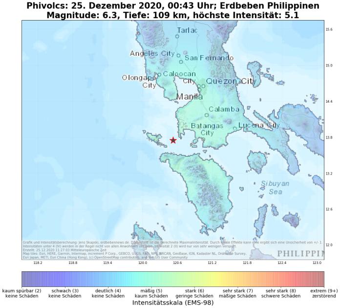 Ein starkes Erdbeben hat den Südwesten von Luzon erschüttert.